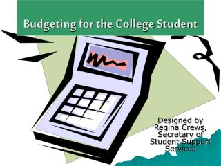 Budgeting for the College Student