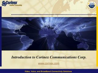 Introduction to Corinex Communications Corp.