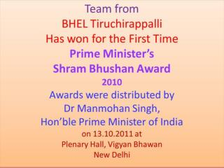 Award Ceremony coverage by Govt.of India website
