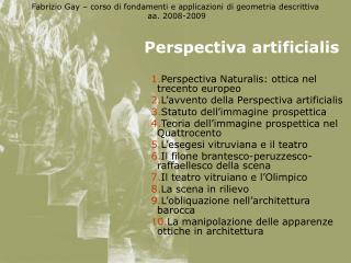 Perspectiva artificialis