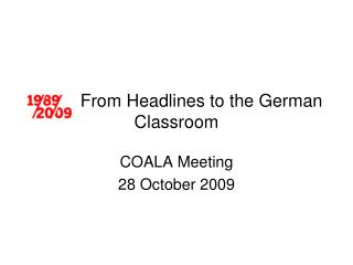 From Headlines to the German Classroom