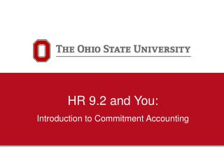 HR 9.2 and You: Introduction  to Commitment Accounting