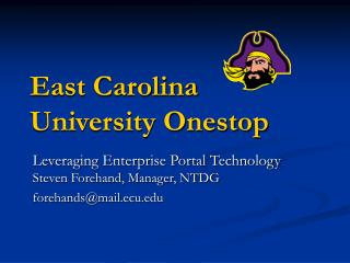 East Carolina University Onestop