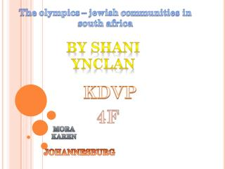 The  olympics  –  jewish  communities in south  africa