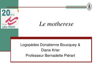 Le motherese