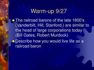 Warm-up 9/27