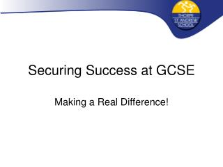 Securing Success at GCSE