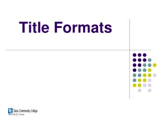 Title Formats