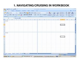 1. NAVIGATING/CRUISING IN WORKBOOK
