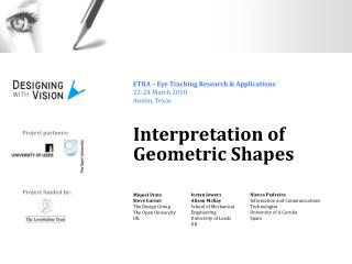 Interpretation of  Geometric Shapes