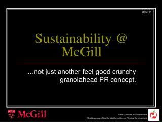 Sustainability @ McGill