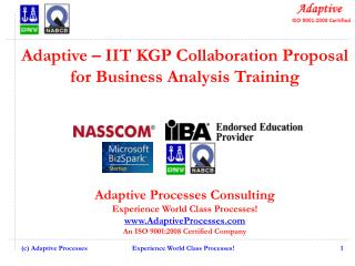 Adaptive – IIT KGP Collaboration Proposal for Business Analysis Training
