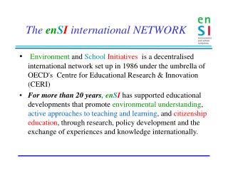 The  en S I international NETWORK