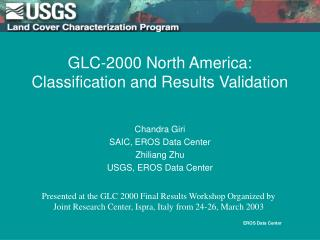 GLC-2000 North America: Classification and Results Validation