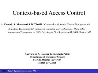 Context-based Access Control