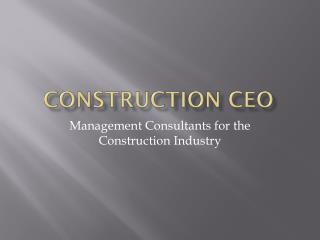Construction CEO