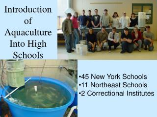Introduction of Aquaculture Into High Schools