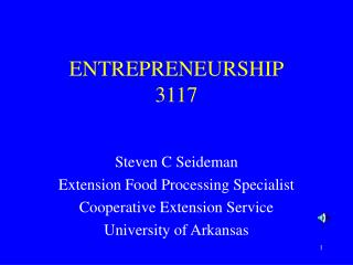 ENTREPRENEURSHIP 3117