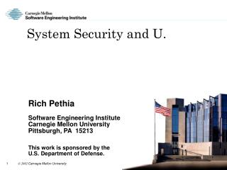 System Security and U.