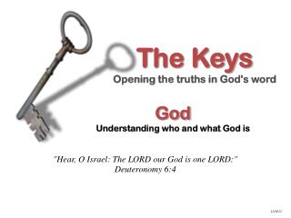 God Understanding who and what God is