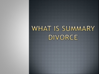 What is Summary Divorce?
