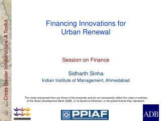 Financing Innovations for  Urban Renewal