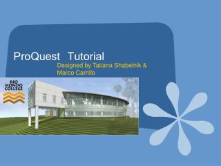 ProQuest Tutorial
