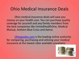 Best Ohio Medical Insurance Deals