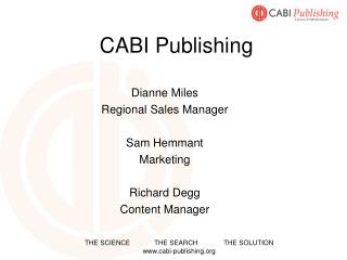 CABI Publishing