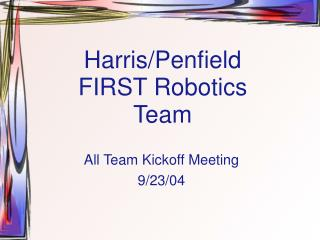 Harris/Penfield FIRST Robotics Team