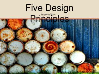 Five Design Principles