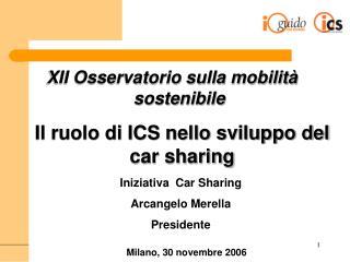 Il ruolo di ICS nello sviluppo del car sharing