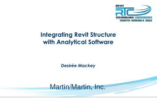 Integrating Revit Structure  with Analytical Software