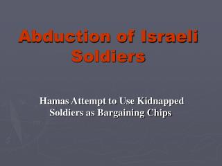 Abduction of Israeli Soldiers