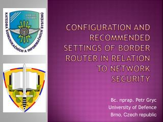 Configuration  and recommended settings of border router in relation to network  security