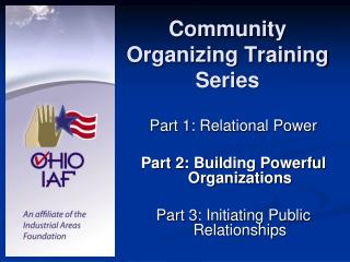 Community Organizing Training Series