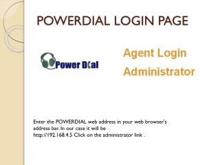 POWERDIAL LOGIN PAGE