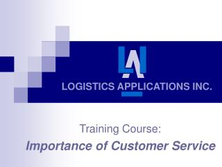 LOGISTICS APPLICATIONS INC.