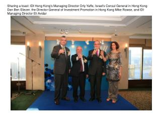 Industry leaders with Israel's Consul General in Hong Kong Dan Ben Eliezer