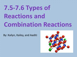 7.5-7.6 Types of Reactions and Combination  R eactions