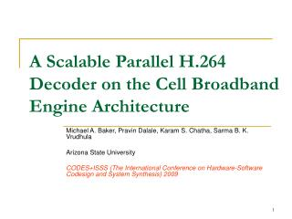 A Scalable Parallel H.264 Decoder on the Cell Broadband Engine Architecture