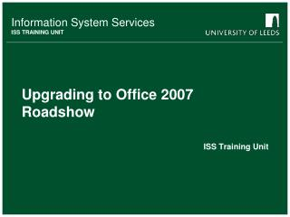 Upgrading to Office 2007 Roadshow