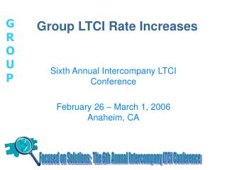 Group LTCI Rate Increases