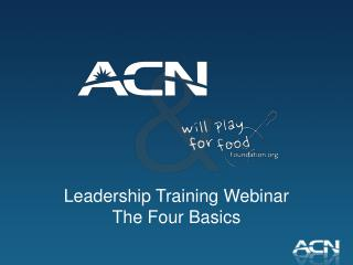 Leadership Training Webinar The Four Basics