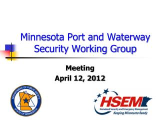Minnesota Port and Waterway Security Working Group