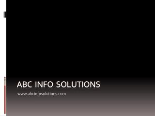 ABC  Info  solutions