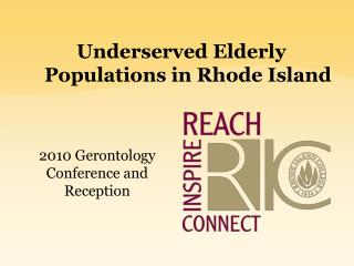 Underserved Elderly Populations in Rhode Island