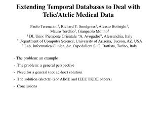Extending Temporal Databases to Deal with Telic/Atelic Medical Data