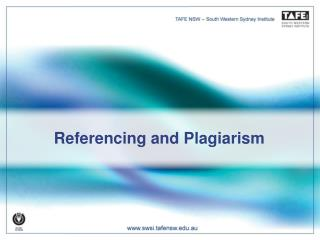 Referencing and Plagiarism