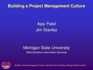 Building a Project Management Culture